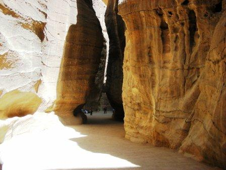 Several such interesting corners dominate the journey to The Treasuryat Petra in Jordan