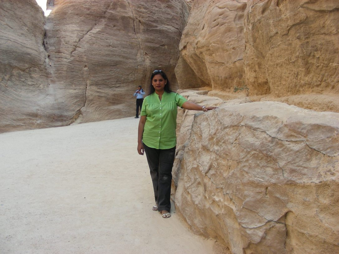 Manjari Bhatnagar--That's me... I chose to get up close and personal with the ancient civilisation