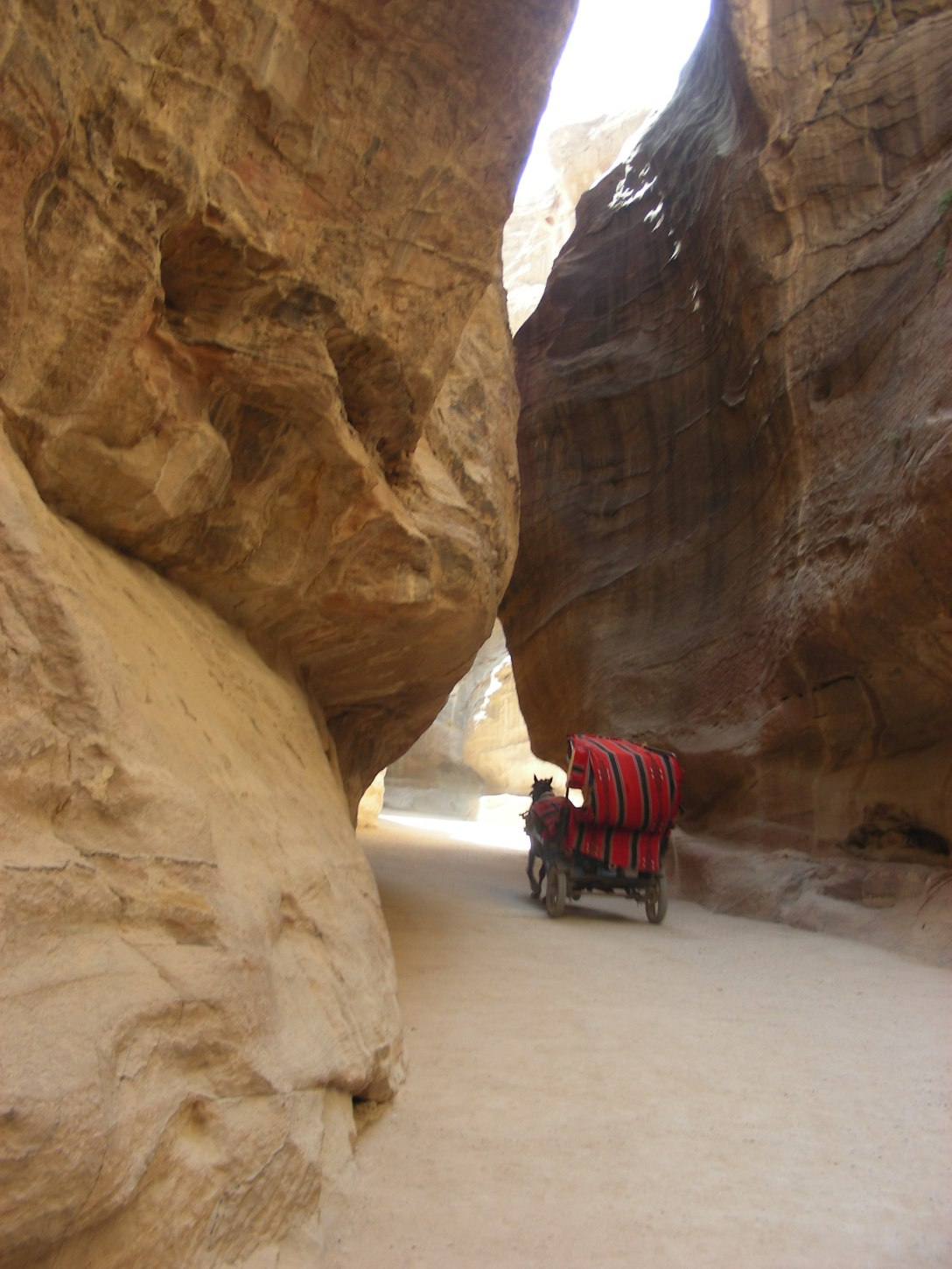 The horse-drawn carriages are an integral part of this sojourn at Petra