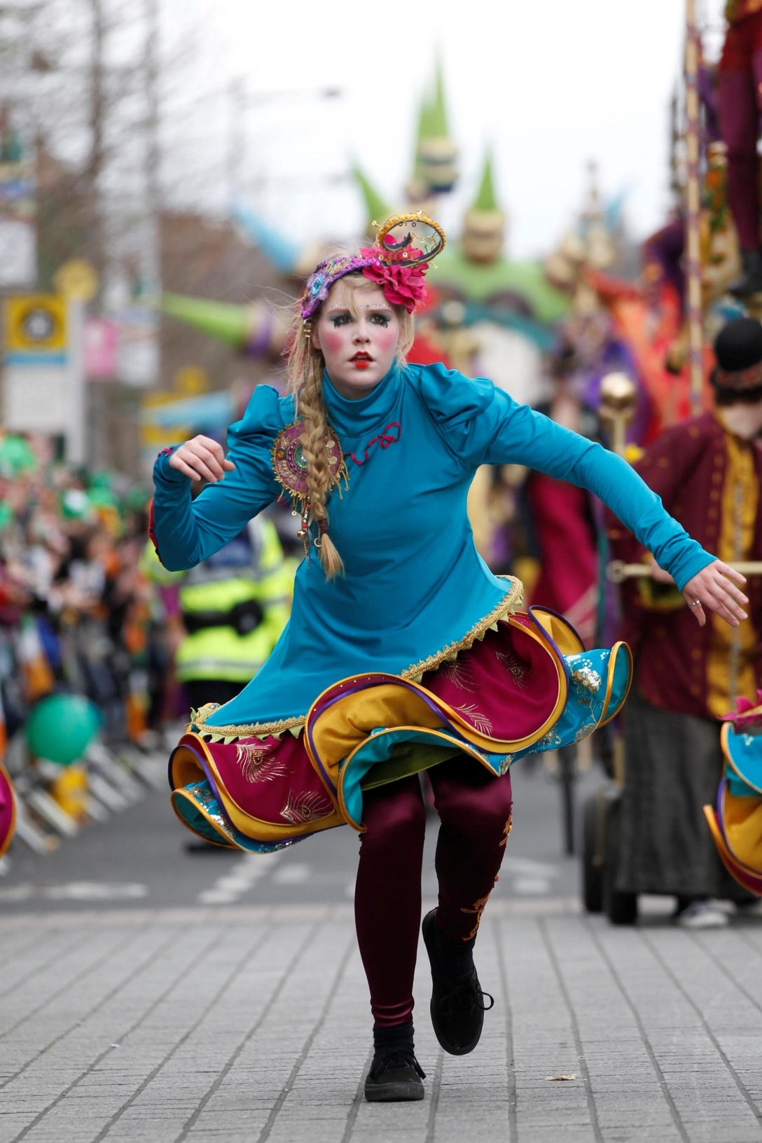 Colourful costumes add to the celebrations